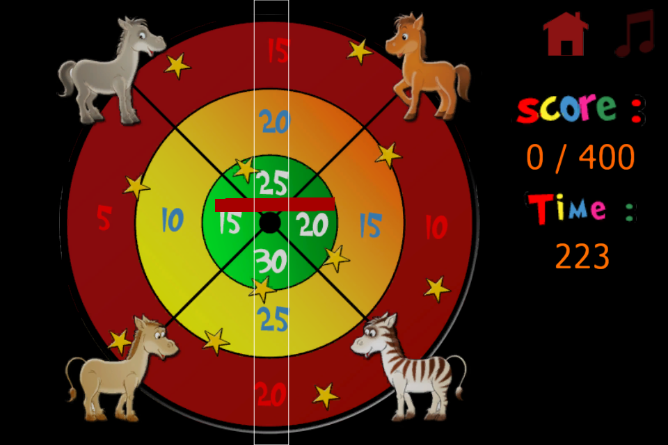 Screenshot Horses and darts for children